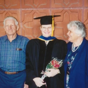 Nancy Stoyer with parents