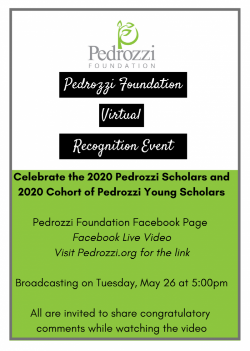 Pedrozzi Virtual Recognition Event – May 26, 2020